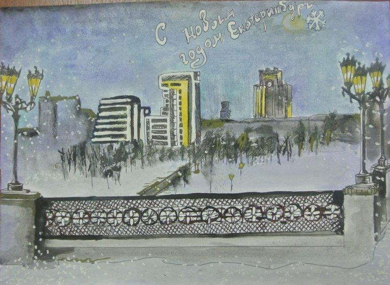 Фото к Вильгельм де Геннин, советский танк и небоскребы на поздравительных открытках школьников